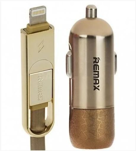 Автомобильное зарядное устройство Remax Finchy RCC103 Золотой