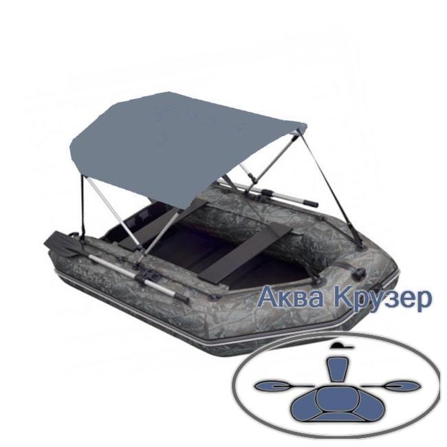 Тент от солнца на лодку ПВХ Колибри, Барк др. Лодочный тент биминитоп солнцезащитный для надувной лодки от 3 м
