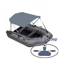 Тент от солнца на лодку ПВХ Колибри, Барк др. Лодочный тент биминитоп солнцезащитный для надувной лодки от 3 м, фото 1