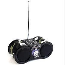 Портативная колонка Tivdio-113 с радио FM Хаки