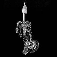 Бра-свеча со стеклянным каркасом P13-5170/1W/CH+CL