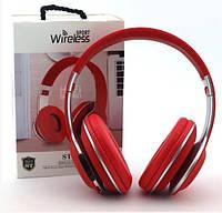 Bluetooth наушники ST17 Красный, фото 1