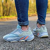 Кроссовки Adidas Yeezy Boost 700 V2 Gospital Blue (Адидас Изи Буст голубые) мужские и женские размеры: 36-45