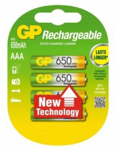 Акумулятор GP Rechargeable R03 650 mAh Ni-MH