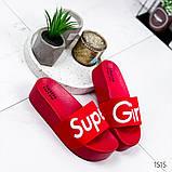 Женские пляжные шлепки Super Girl ,на платформе,танкетка 5 см, очень удобные, фото 3