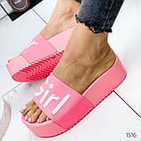 Женские пляжные шлепки Super Girl ,на платформе,танкетка 5 см, очень удобные, фото 6