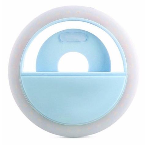 Кольцо для селфи Selfie Ring Light XJ-01 на аккумуляторе Голубой