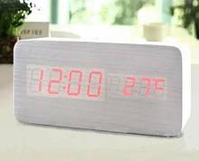 Часы настольные VST 862 Красная подсветка Белый