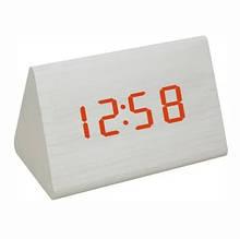 Часы настольные VST 864 Красная подсветка Белый
