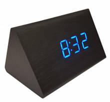 Часы настольные VST 864 Синяя подсветка Черный
