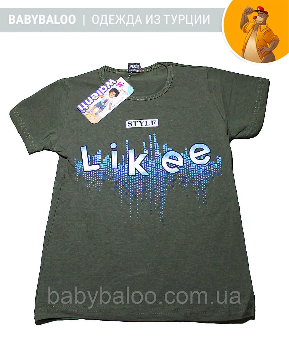 """Стильная футболка для мальчика """"Likee"""" (от 9 до 12 лет)"""