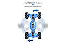 Трюковая машинка перевертыш на радиоуправлении (Синий) с пультом управления и сенсорным браслетом   , фото 6