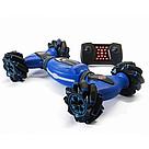 Трюковая машинка перевертыш на радиоуправлении (Синий) с пультом управления и сенсорным браслетом   , фото 2