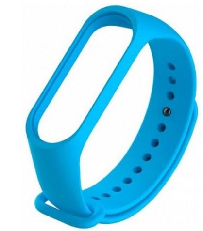 Ремешок для фитнес браслета Mi Band 3 и Mi Band 4 Голубой