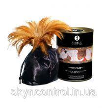 Съедобная пудра для тела с перышком Shunga Champagne & Strawberry, 228 гр