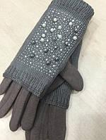 """Женские зимние перчатки """"Бусинки"""" (расцветки), фото 1"""