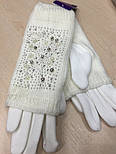 """Жіночі зимові рукавички """"Намистинки"""" (забарвлення), фото 2"""