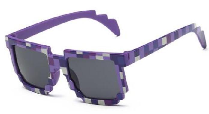Тематические, пиксельные, детские очки Minecraft 8 bit Фиолет