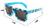 Тематические, пиксельные, детские очки Minecraft 8 bit Фиолет, фото 2