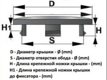 Колпачок без логотипа  130-140x59x10x5