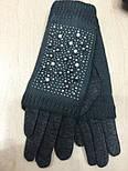 """Жіночі зимові рукавички """"Намистинки"""" (забарвлення), фото 4"""
