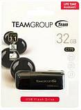 USB Flash накопитель Team C175 32GB 3.0 Черный, фото 2