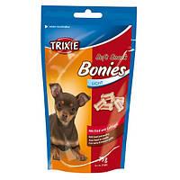 Trixie (Трикси) Soft Snack Bonies Лакомство для собак маленьких пород и щенков говядина индейка 75 г