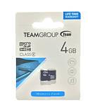 Карта пам'яті Team Group Micro SD 4 Class 4 GB Чорний, фото 2