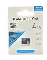 Карта памяти Team Group Micro SD 4 Class 4 GB Черный