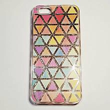 Бампер для iPhone 6/6S с плавающими блестками Серебристый