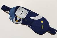 Темно-синяя маска для сна / повязка на глаза с принтом ручной работы