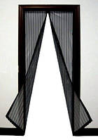 Магнитная сетка на дверь Magic Mesh 190х100 см. Черный