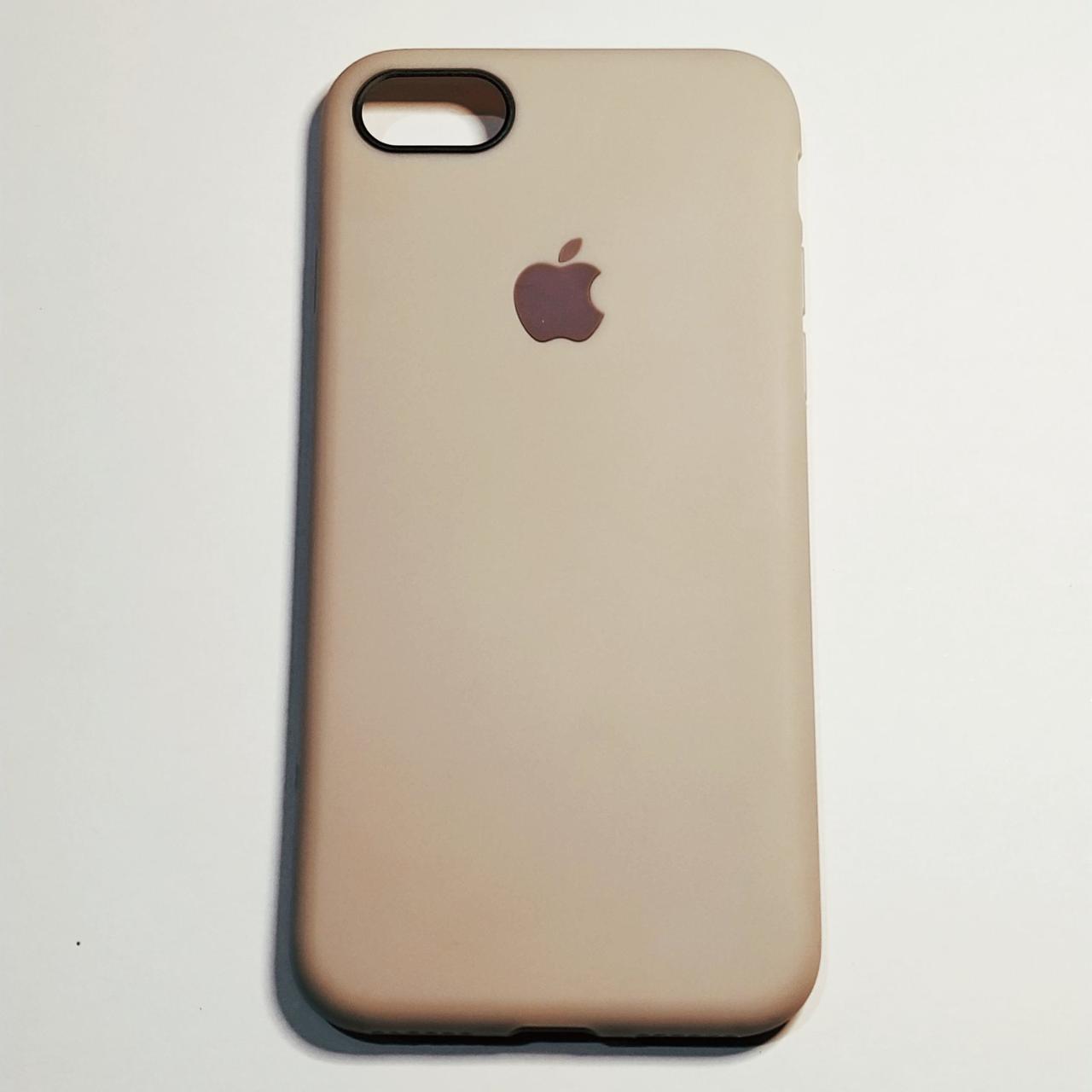 Бампер для iPhone 7/8 силиконовый с яблоком Серый