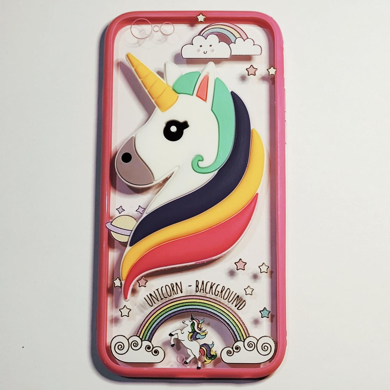 Бампер для iPhone 6/6S Plus Единорог Розовый