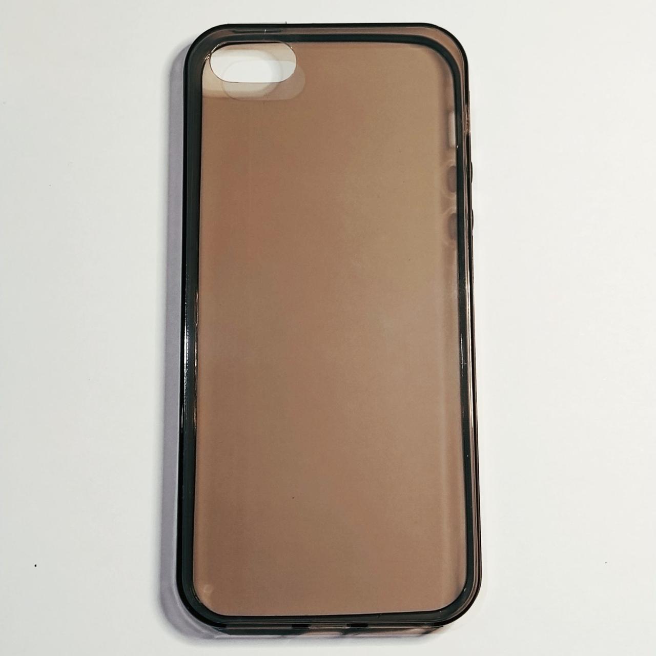 Бампер для iPhone 5/5S/5SE силиконовый темный Прозрачный