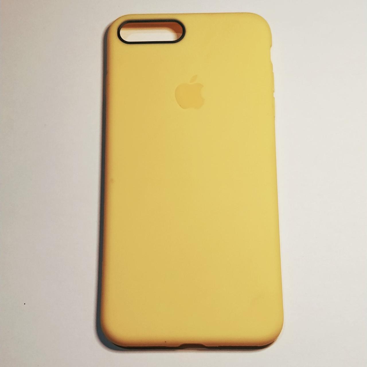 Бампер для iPhone 7/7S Plus силиконовый Желтый