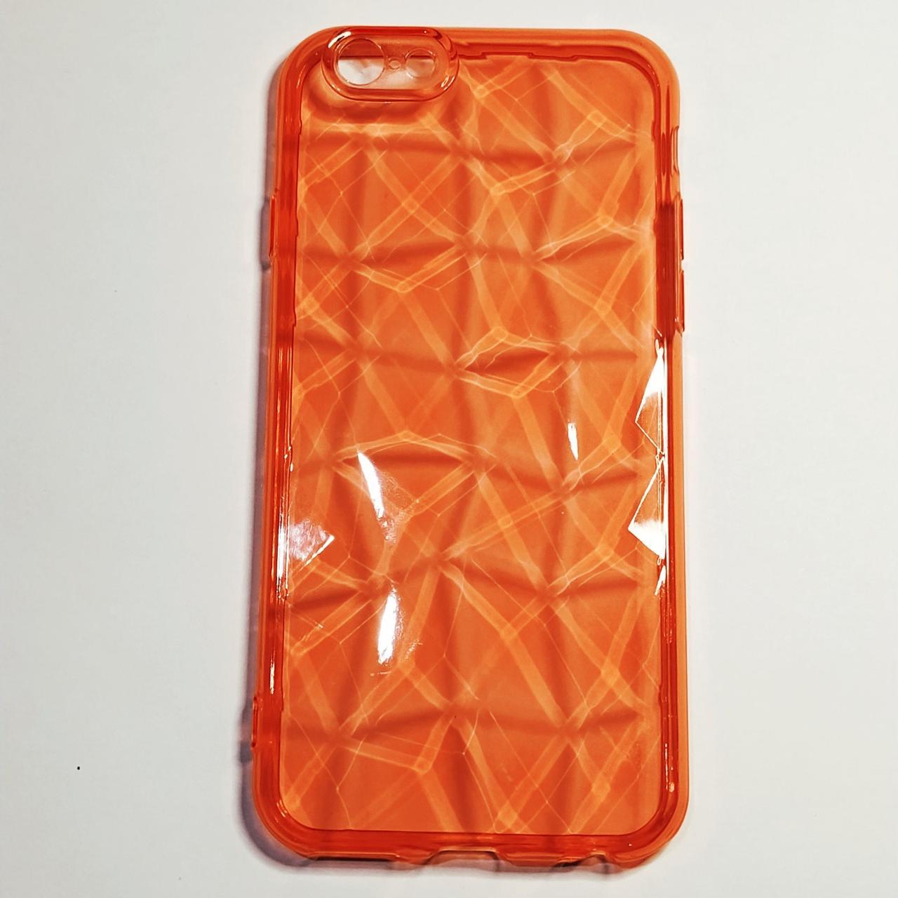 Бампер для iPhone 6/6S граненный Красный