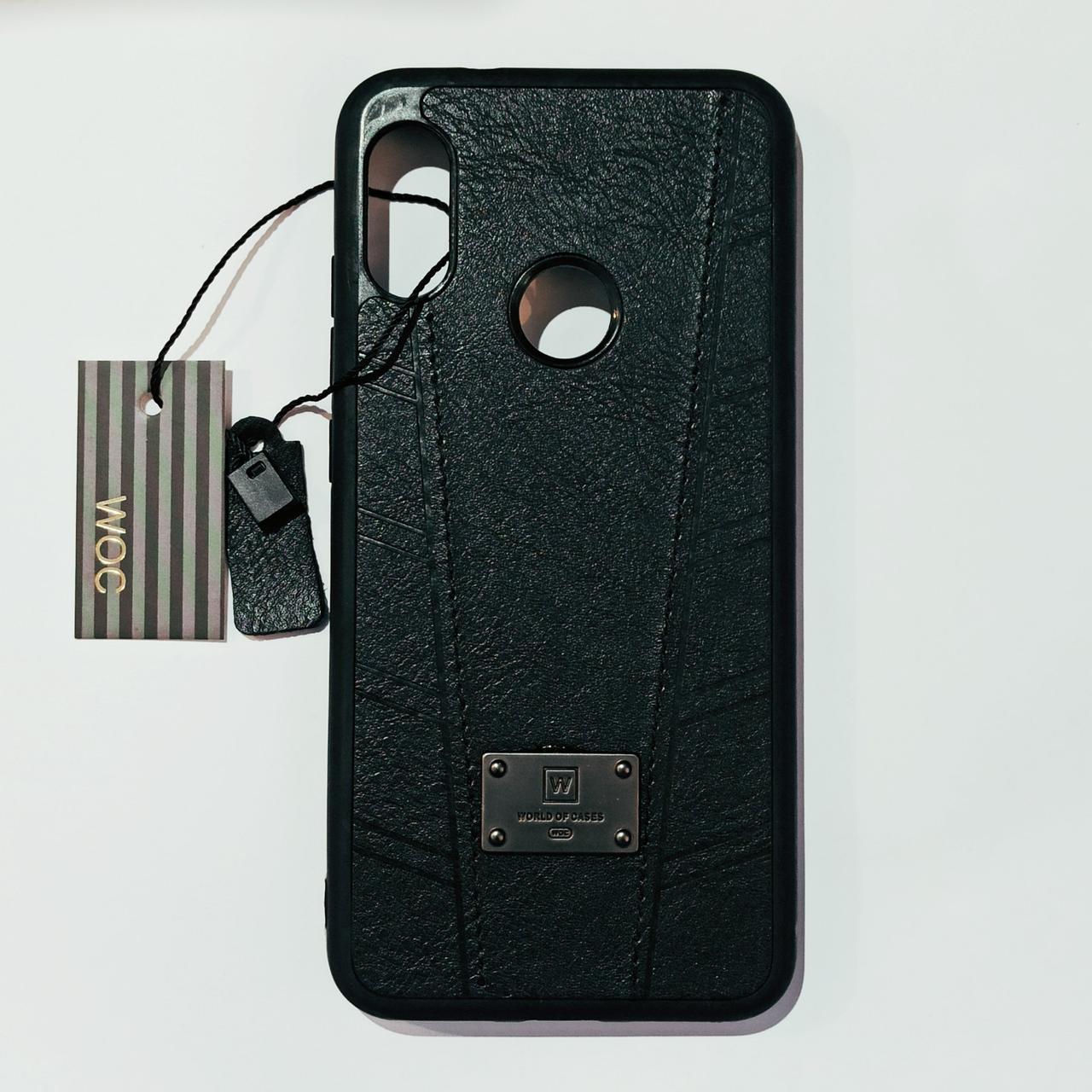Бампер шкіряний для Xiaomi A2 Lite, Redmi 6 Pro Чорний