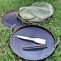 Сковорода из диска бороны 40см + крышка + чехол + Лопатка в Подарок