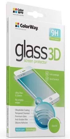 Захисне скло для iPhone 6/6S 3D Білий