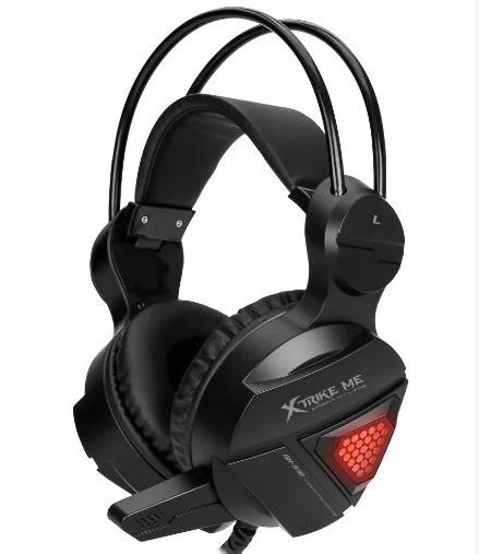 Наушники для компьютера с микрофоном XTRIKE GH-918 BK Wired Черный