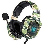 Наушники для ПК с микрофоном Onikuma K8 Хаки