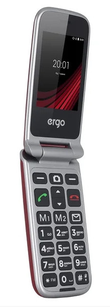 Телефон Ergo F2412 Signal Red