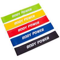 Фитнес-резинки набор 5 шт Loop Bands Body Power, ленты сопротивления