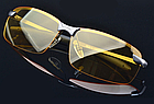 Окуляри для водіння поляризовані / З ПОЛЯРИЗАЦІЄЮ у відкритій оправі з регульованими носовими упорами - ЧОРНІ, фото 3