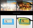 Очки для вождения поляризованные / С ПОЛЯРИЗАЦИЕЙ в открытой оправе с регулируемыми носовыми упорами - ЧЁРНЫЕ, фото 4