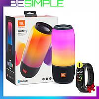 Колонка JBL Pulse 3, Портативная Bluetooth колонка, Блютуз колонка + Фитнес браслет в Подарок