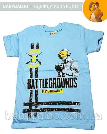 """Стильная футболка для мальчика """"Battlegrounds"""" (от 5 до 8 лет), фото 2"""
