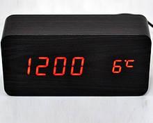 Часы настольные VST 862 Красная подсветка Черный