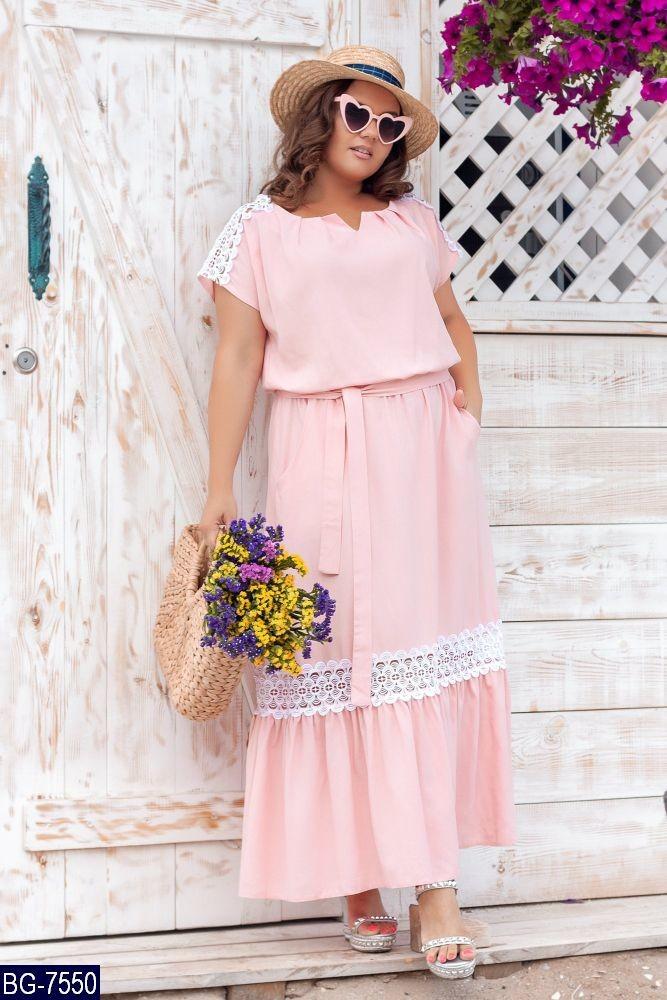 Стильное платье  (размеры 48-66) 0248-92